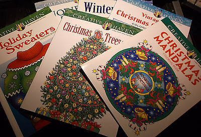 BRAND NEW! LOT OF 6 CHRISTMAS COLORING BOOKS HOLIDAY FUN FOR ADULTS OR CHILDREN  (Christmas Fun For Adults)