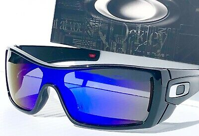 NEW! Oakley BATWOLF Matte Black Ink POLARIZED Galaxy Blue 2 lens Sunglass 910157