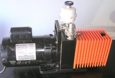 Alcatel Rotary Vane Vacuum Pump 2008a Tested To 1 Micron Vacuum 120v 7 Cfm