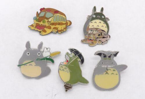 5 My Neighbor Totoro & Catbus Pin Badge Set ~NEW~