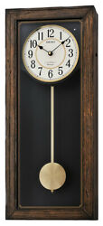 Seiko Sadie Analog Quartz Wooden Case Pendulum Chiming Wall Clock QXM330BLH