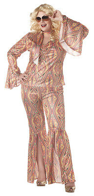 Discolicious Dancing Disco Plus Size Adult Costume - Female Disco Costumes