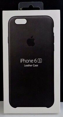 NEW!!! OEM Apple iPhone 6/ 6s Leather Case by Apple - Black - MKXW2ZM/A