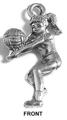 Volleyball Girl Charm (use for volleyball bracelet, earrings, etc.)](Volleyball Charm Bracelet)