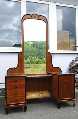 !SCHNÄPPCHEN Frisiertisch Schminktisch Art Deco antik um 1910 Kommode Spiegel VW
