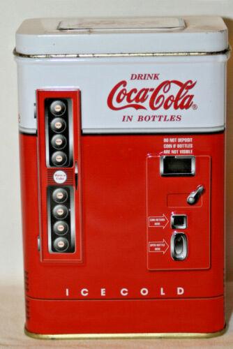 Coca Cola Miniature Vending Machine Tin. (H1)