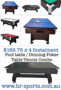 New Pool Dinning-Poker Tennis Table With Free accessories worth $200 Hope Valley Tea Tree Gully Area Preview