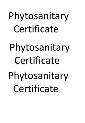 Phytosanitary certificate cost