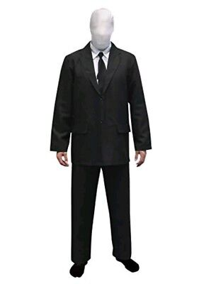 Slenderman Costume Morphsuit - Small Halloween suit business man black - Halloween Businessman