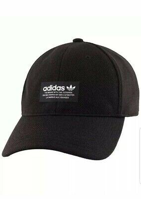 Adidas Originals Men's Hat Curve Pique Dad Hat Adjustable Onesize Black New