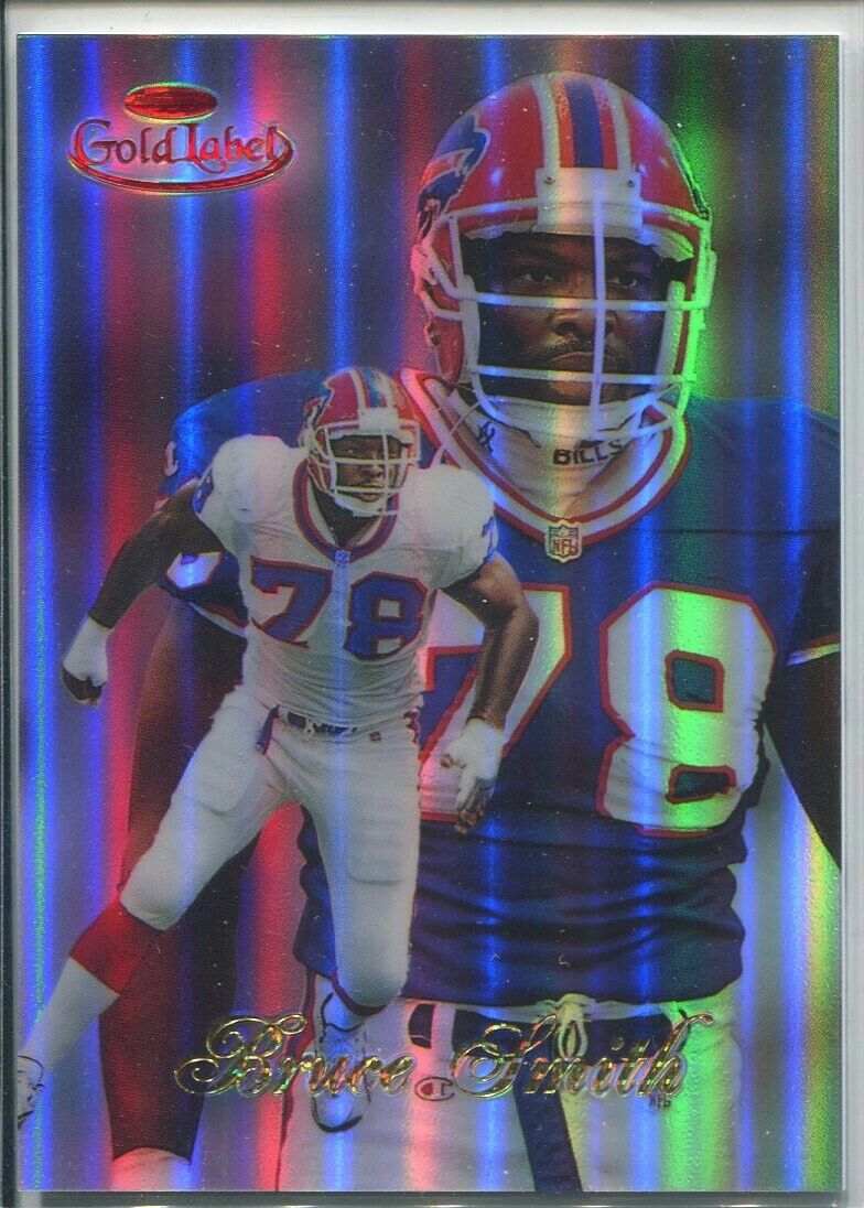 Bruce Smith 1998 Topps Gold Label Class 3 Red Parallel d 11/25 RARE Bills - $58.88