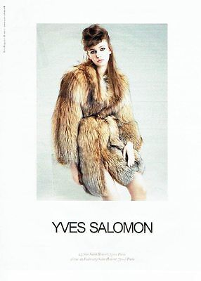 Publicite advertising 027  2012   les fourrures yves salomon