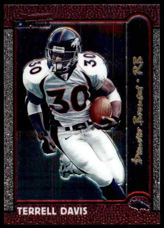 1999 Terrell Davis Denver Broncos Starting Lineup mint in pkg w// football card