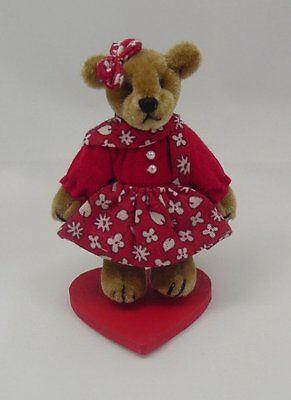 "World of Miniature Bears 2.5"" Plush Bear Alma Red/White #5023RW Collectible Bear"