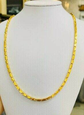 24K Solid Yellow Gold  Necklace 28.85Grams 18.5Inches(2897$)