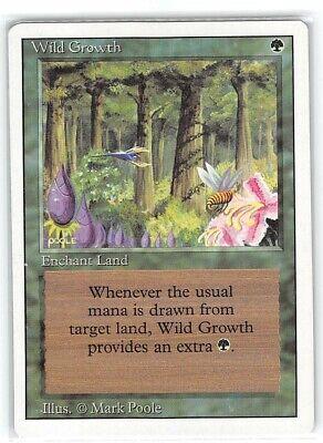 Wild Growth *Common* Magic MtG x1 Revised MP