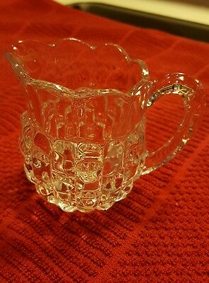 "VINTAGE ♡ BEAUTIFUL CLEAR GLASS CREAMER ♡ 3"" Tall"