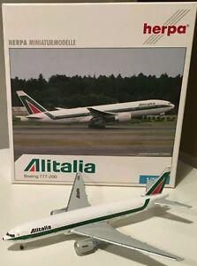 HERPA WINGS 1:500 Alitalia Boeing B777-200. 506618. - Italia - HERPA WINGS 1:500 Alitalia Boeing B777-200. 506618. - Italia