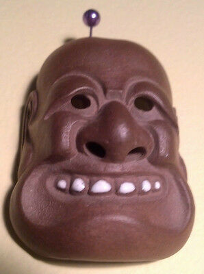 Japanese Antique Sekisen Onko Ware Netsuke Mask High Detail Signed