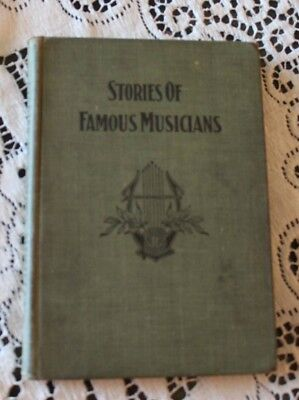 Antique Book Stories Of Famous Musicians For Young People David Clymer Ward 1911