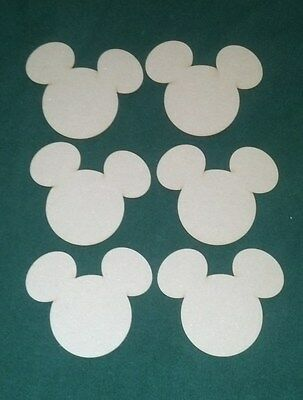 Mickey Mouse Cutouts (Mickey Mouse shape unfinished cutouts  (6)