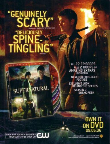 Supernatural Smallville 2006 San Diego Comic-Con SDCC 8x11 inch promo photo card