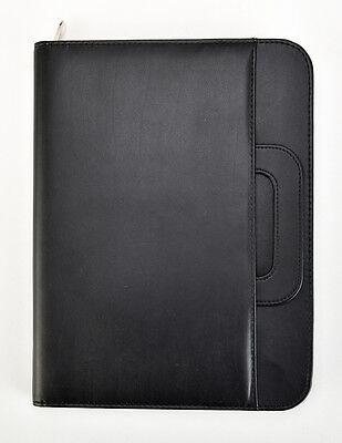 Black A4 Conference Folder With Calculator Pad Professional Portfolio Cl-835