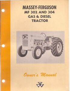 Massey-Ferguson-MF-302-304-Gas-Diesel-Tractor-Operators-Manual