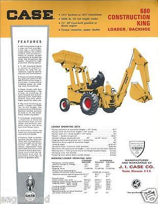 Equipment Brochure - Case - 680 - Construction King Loader - C1966 E2138