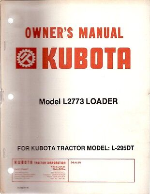 Kubota Model M1300 Front Loader Owners Parts Manual