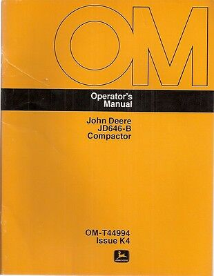John Deere Jd646-b Compactor Operators Manual