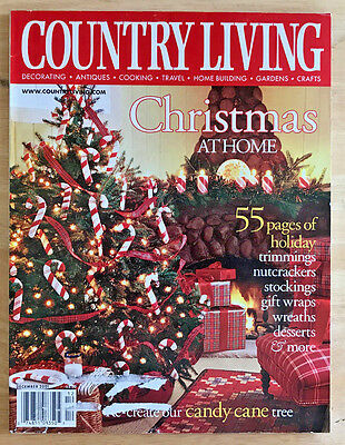 Country Living Magazine 2001 Christmas Decorating Trees Wreaths Garland Desserts ()