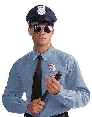POLICE OFFICER HAT BADGE GLASSES CLUB KIT Cop Toy Detective Policeman Sun Billy (Police Badge Toy)