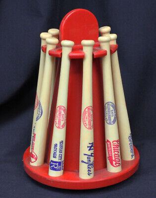 Vtg American League Baseball Bat Piggy Bank Mini Teams Louisville Slugger '72-77