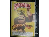 XL Backwoods cigars Banana Donkey Kong Vinyl Decal Sticker