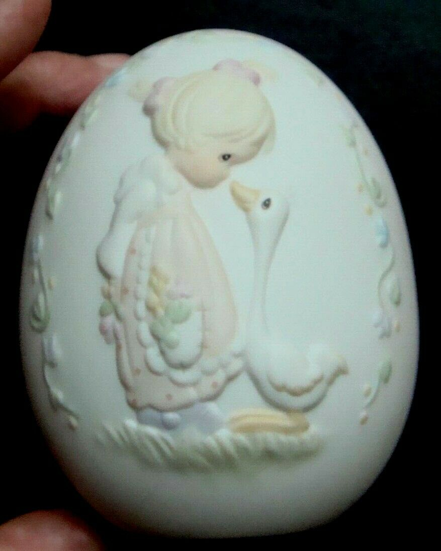 1993 Precious Moments Easter Egg Very Nice Condition No Cracks ,Scratches, Chips