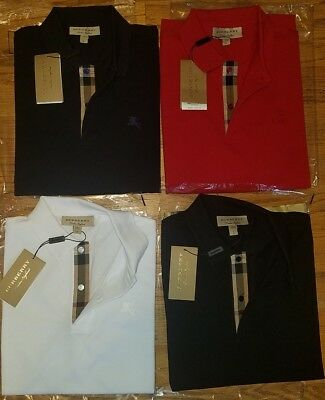 Oxford Short Sleeve Polo Shirt (Burberry men's short  sleeve check placket oxford polo shirt  s,m,l,xl,2xl,3xl )