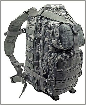Backpack Digital Acu Camo (EXCELLENT QUALITY LEVEL III TACTICAL BACKPACK ACU DIGITAL CAMO 600 DENIER)