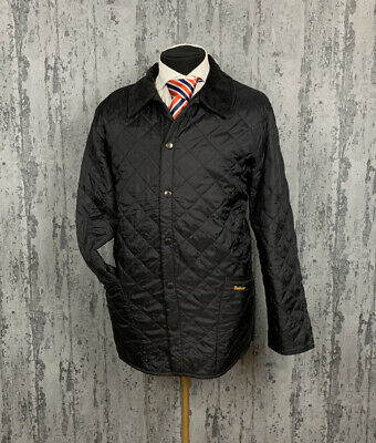Men`s Barbour Liddesdale Casual Black Quilted Jacket Size XL