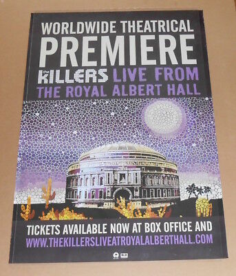 The Killers Live From the Royal Albert Hall Poster Original Promo 39x27