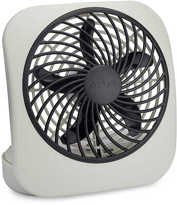O2cool 5 Battery Operated Portable Small Desk Fan Powerful Two-Speed Office (O2 Cool 5 Portable Battery Operated Desk Fan)