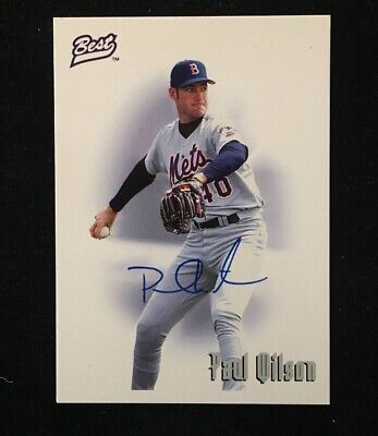 PAUL WILSON 1995 BEST AUTOGRAPHED SIGNED AUTO BASEBALL CARD COA METS 1995 Best Autographed Card