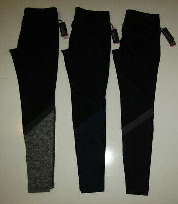 TANGERINE Color Block Leggings Black Gray Purple Blue S M L