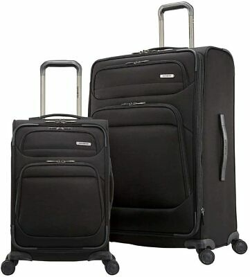 Samsonite Epsilon NXT 2-piece Softside Set (Black). FREE SHIPPING!!!!!!