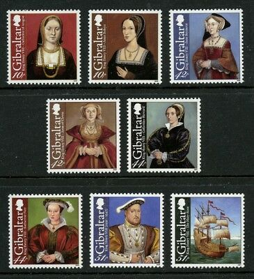 King Henry VIII 8 mnh stamps 2009 Gibraltar #1173-80 Anne of Cleves + 5 wives