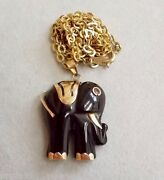 Vintage Onyx and Gold Jewelry