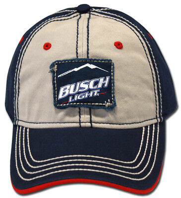 BUSCH LIGHT BEER Hat New AUTHENTIC Logo Adjustable Licensed Dual Color