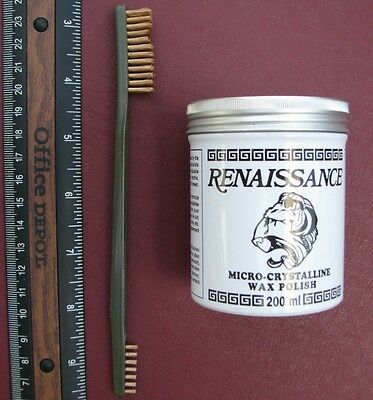Artifact & Coin Cleaning Kit -  7 oz Renaissance Wax + ONE BRONZE Brush