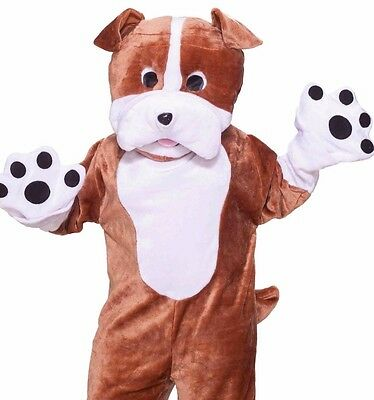 Bulldog Mascot Costume Deluxe Adult Plush Furry Puppy  Bull Dog - Fast Ship - - Adult Furries