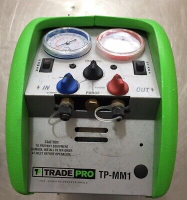 Trade Pro Tp-mm1 Refrigerant Recovery Machine Hvac